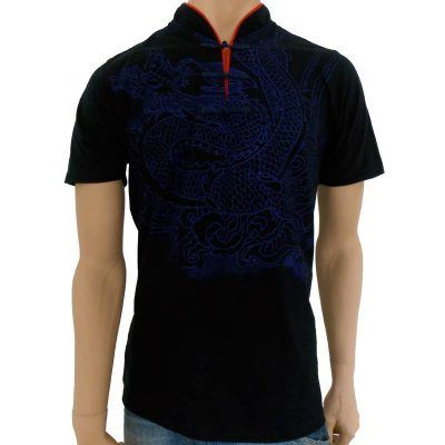 Tai Chi T-shirt Blue Dragon
