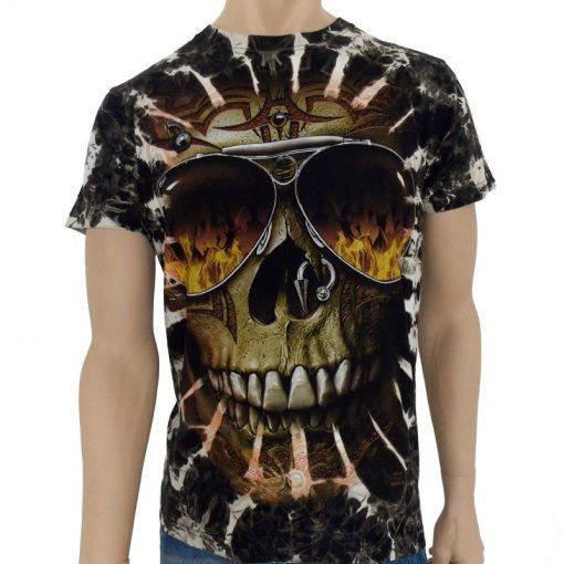 Dödskalle T-shirt, T-shirt med döskalletryck